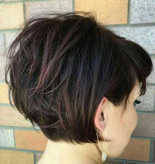 Short-Hair-for-Thick-Hair-2017 Charming Short Brunette Hairstyles