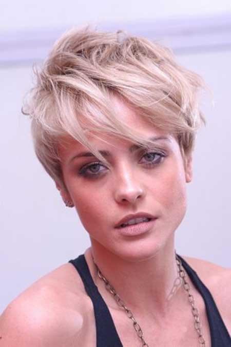 Short-Hair-with-Longer-Bangs New Short Blonde Hairstyles