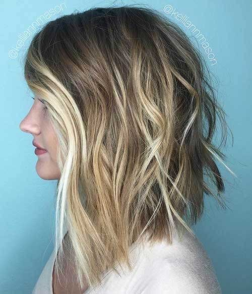 Short-Medium-Wavy-Hair-Cut Wavy Short Hair Styles for Chic Ladies