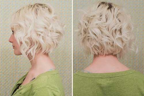 Short-Messy-Blonde-Bob Very Short Curly Hair 2019