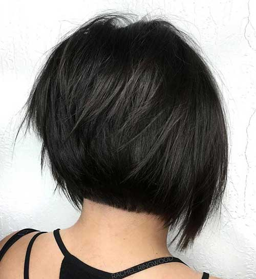 Short-Stacked-Bob-1 Charming Short Brunette Hairstyles