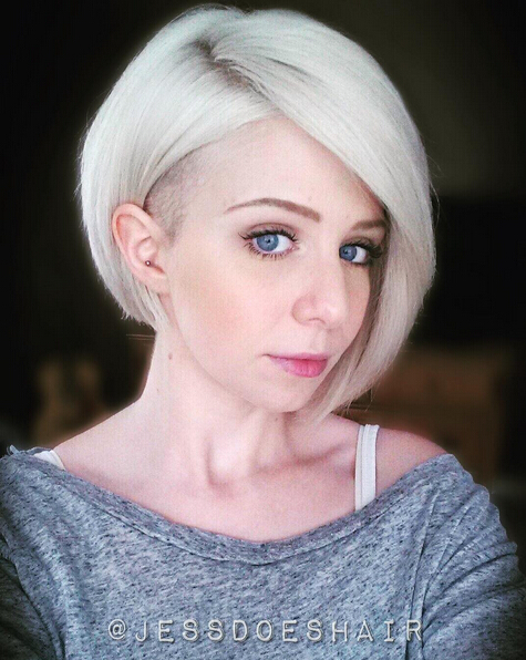 Short-Undercut-Bob-Hairstyle Awesome Undercut Hairstyles for Girls