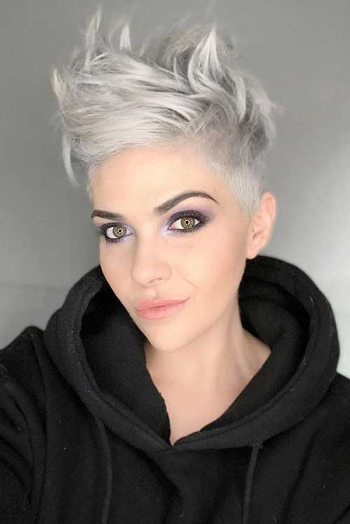 Short-Wavy-Pixie-Hair-Style Wavy Short Hair Styles for Chic Ladies