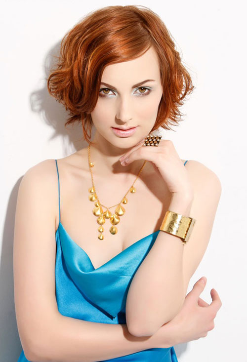 Short-wavy-red-hair Hairstyles for Short Wavy Hair