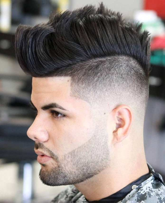 Skin-fade-Mohawk Stylish Undercut Hairstyle Variations For 2019