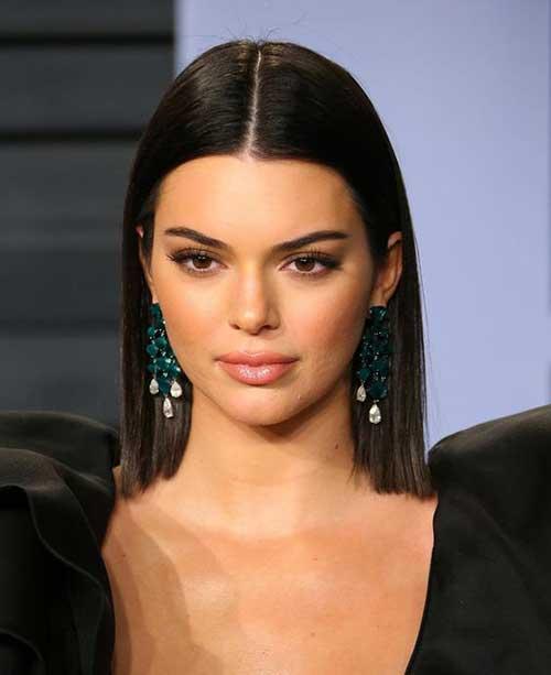 Sleek-Short-Hair-Style Kendall Jenner Short Hair Pics