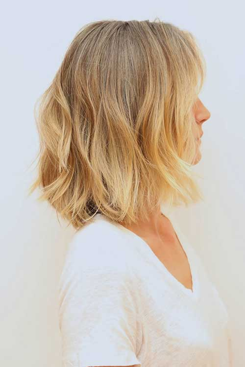 Soft-Blonde-Natural-Waves Short Medium Hairstyles 2019