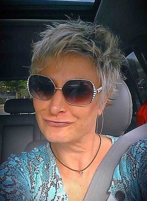Spiky-Short-Hair-for-Older-Women Short Hairstyles for Older Women with Thin Hair