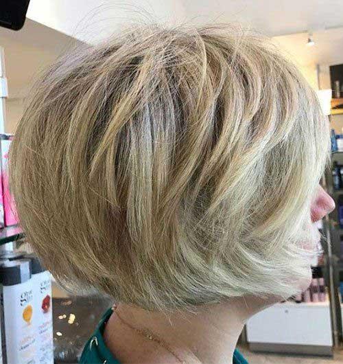 Stacked-Blonde-Bob Modern Short Blonde Hairstyles for Ladies