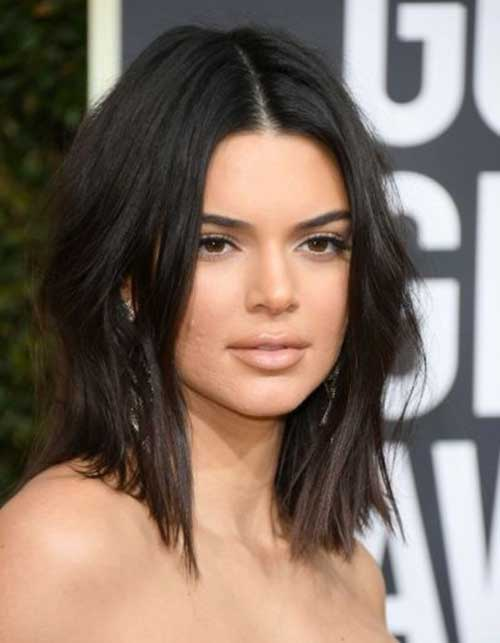 Stylish-Bob-Look Kendall Jenner Short Hair Pics