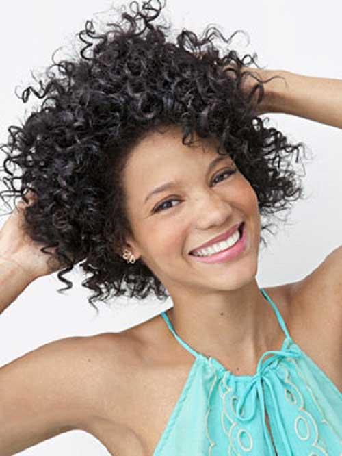 Thin-Curly-Bob-Hair-Style Very Short Curly Hair 2019