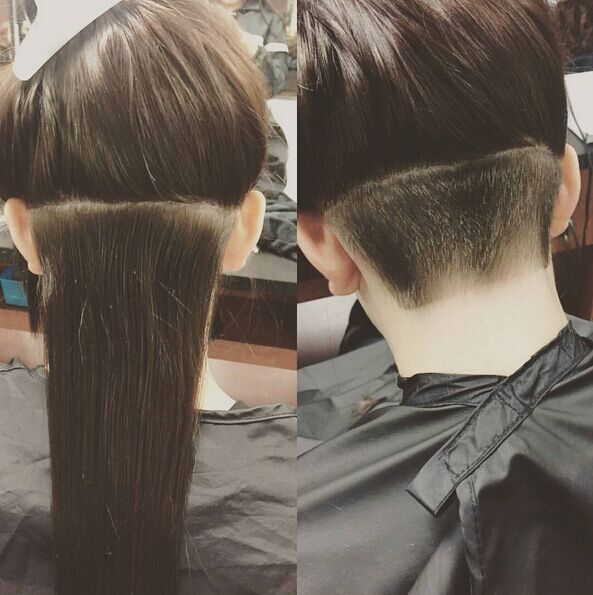 Undercut-Hairstyle-for-Long-Straight-Hair Awesome Undercut Hairstyles for Girls