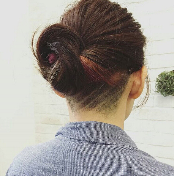 Undercut-Hairstyle-for-Twisted-Updo Awesome Undercut Hairstyles for Girls