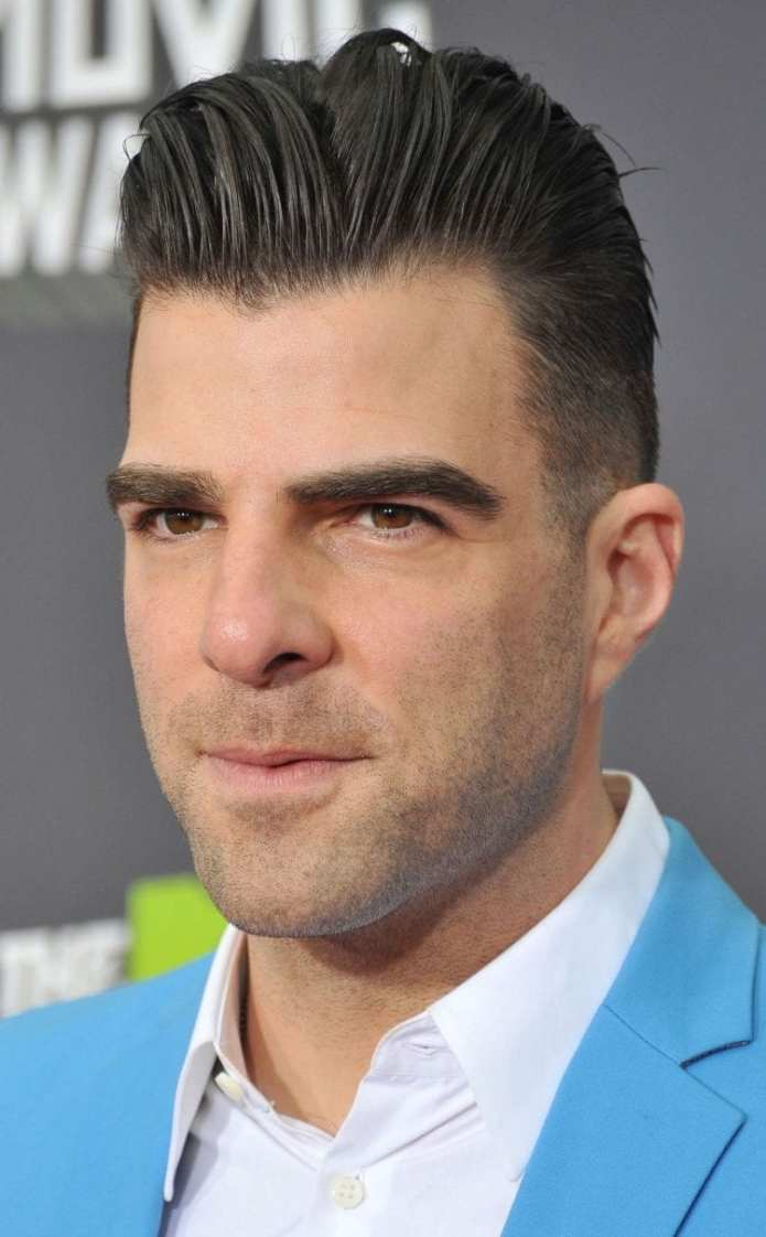 Zachary-Quinto-undercut-quiff-hairstyle Stylish Undercut Hairstyle Variations For 2019