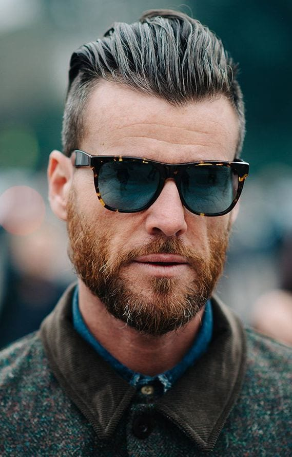 slicked-back-glasses Stylish Undercut Hairstyle Variations For 2019