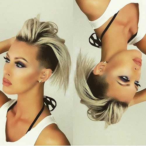 2015-New-Short-Hair-with-Undercut-and-Dark-Roots New Hairstyles for Short Hair