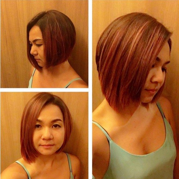 A-Line-Bob-Hairstyle-for-Straight-Hair Beautiful Short Hairstyles for Round Faces 2019
