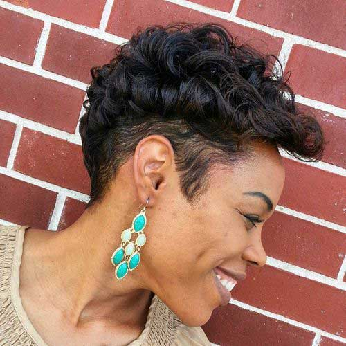 African-American-Hairstyle Best Short Curly Weave Hairstyles
