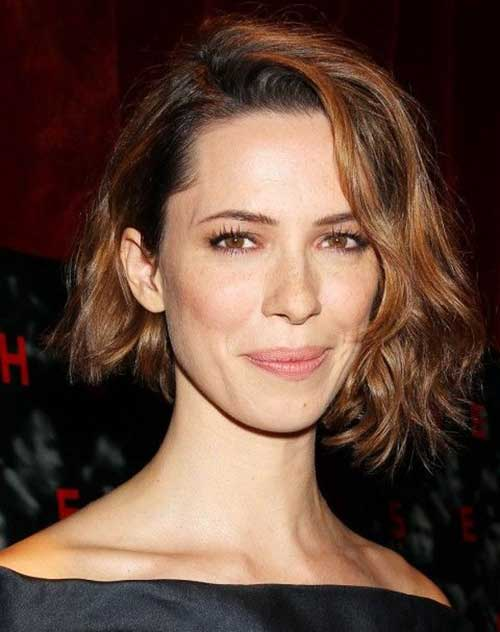 Asymmetrical-Wavy-Bob-Style Easy Hairstyles for Short Wavy Hair with Best Ways