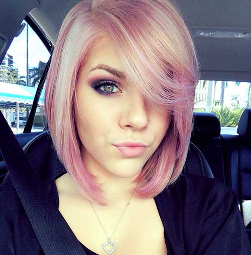 Baby-Pink-Hair-Bob Latest Short Hairstyles for An Amazing Look