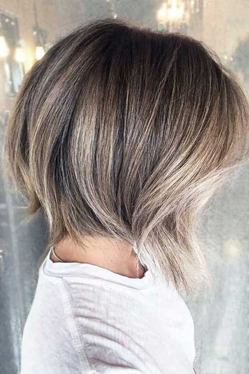 Balayage-on-Ash-Blonde-Bob-Hair Chic Ideas About Short Ash Blonde Hairstyles