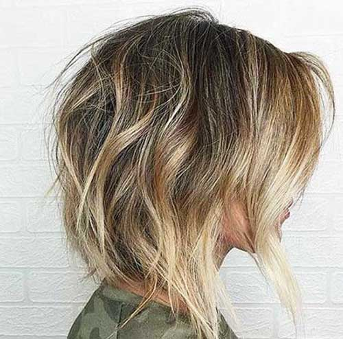 Blonde-Balayage Short Wavy Hairstyles for Women with Style