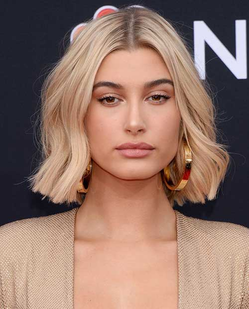 Blonde-Bob-Cut Hailey Baldwin Short Hair 2019