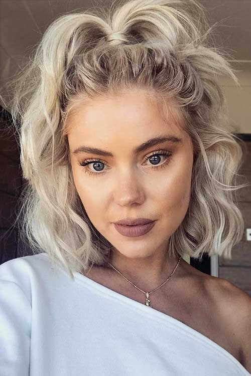 Blonde-Hair-3 Cute Easy Hairstyle Ideas for Short Hair