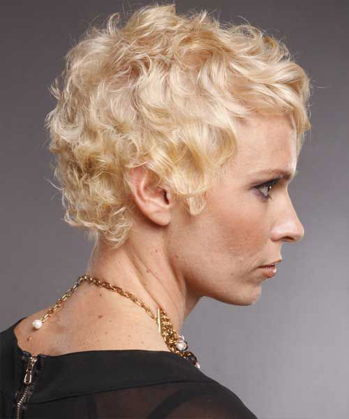 Blonde-Very-Short-Curly-Hair Very Short Curly Hairstyles for Smart Ladies