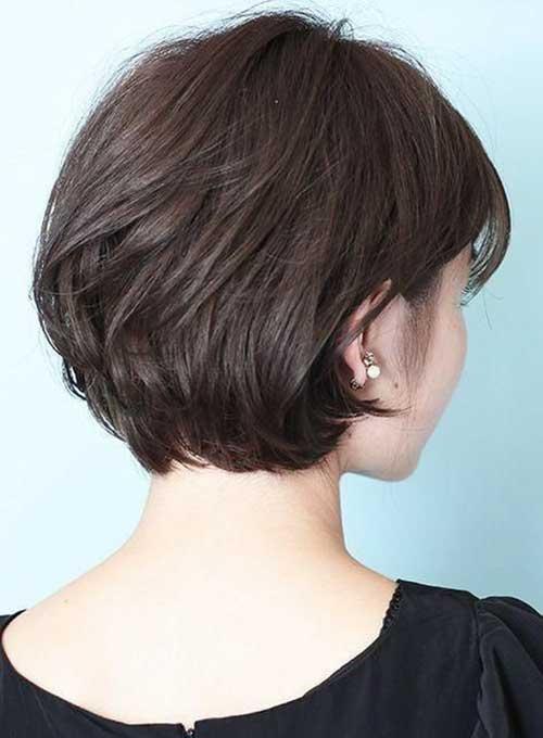 Brown-Hair Back View Of Short Layered Haircuts