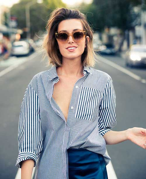 Casual-Short-Straight-Ombre-Hairstyle Casual Short Haircuts