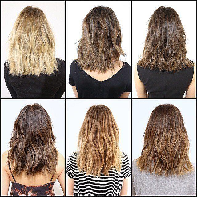 Colored-Medium-Wavy-Hairstyles Wonderful Medium Hairstyles for 2019