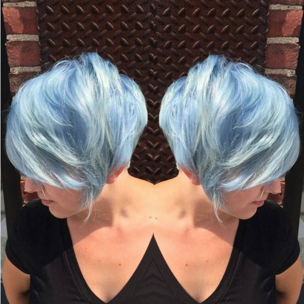 Colored-Pixie-Hairstyle Chic Short Hairstyles for Women 2019