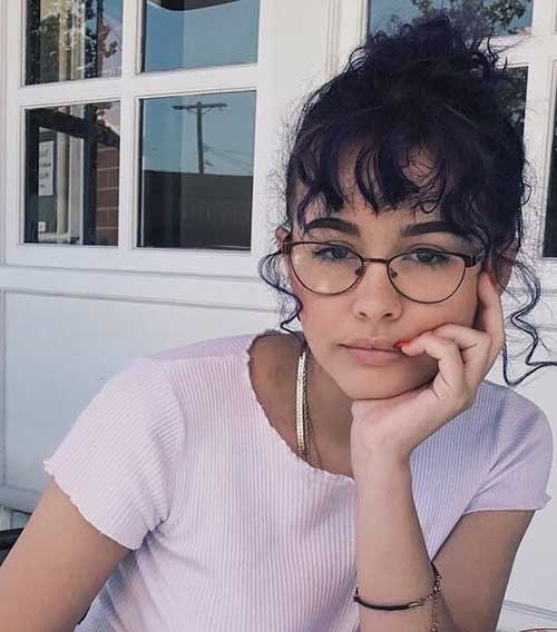 Cute-Bangs-for-Short-Curly-Hair Cute Short Curly Hairstyles for Sweet View