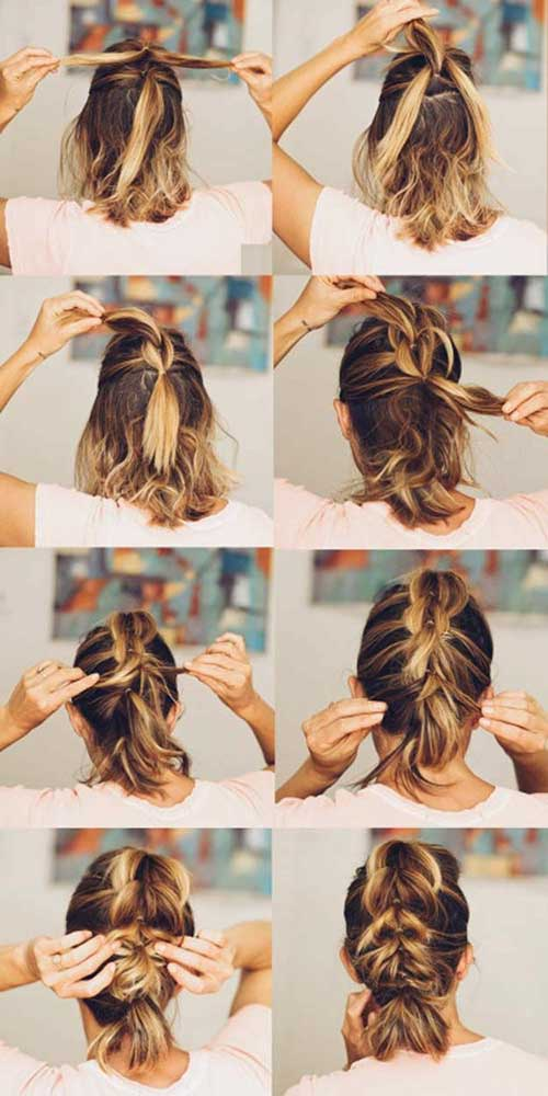 Cute-Easy-Braids-for-Short-Hair Cute Easy Hairstyle Ideas for Short Hair