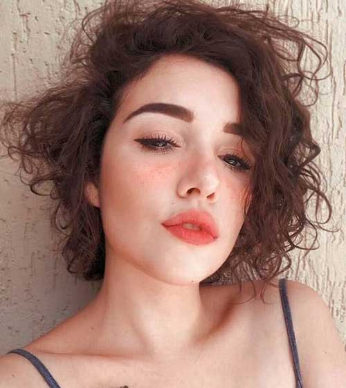 Cute-Short-Curly-Hair Cute Short Curly Hairstyles for Sweet View