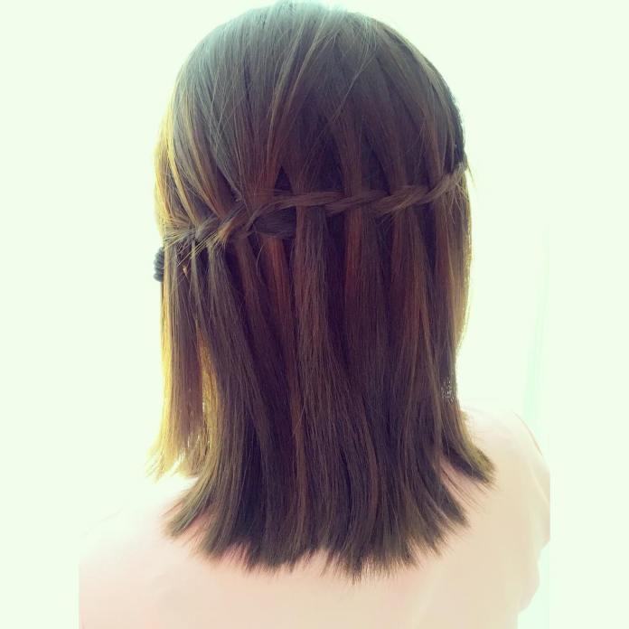 Cute-straight-waterfall-braid-for-girls Alluring Straight Hairstyles for 2019 (Short, Medium & Long Hair)