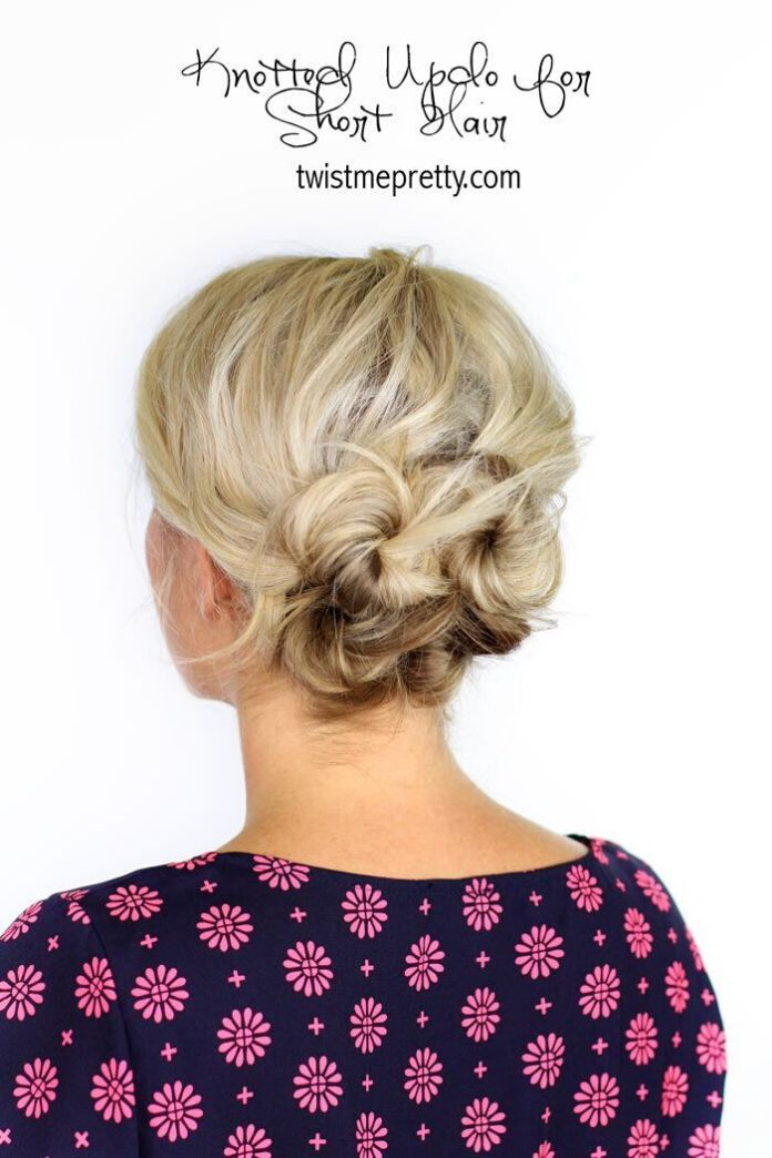 Easy-Updo-Hairstyle-for-Short-to-Medium-Hair Wonderful Medium Hairstyles for 2019