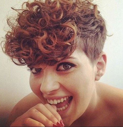 Edgy-Short-Curly-Hair Very Short Curly Hairstyles for Smart Ladies