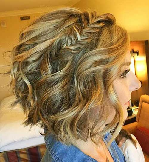 Evening-Hairstyle-Long-Bob Easy Hairstyles for Short Wavy Hair with Best Ways