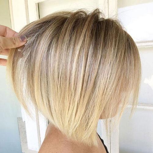 Fine-Hair-Textured-Bob Best Pics of Short Straight Blonde Hair