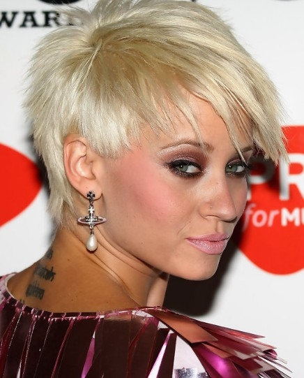 Kimberly-Wyatt-Spiked-Haircut-for-Summer Popular Haircuts for Summer Hairstyles 2019