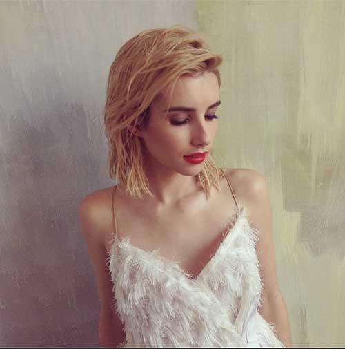 Lauren-Conrad's-Blonde-Bob-Hairstyle Female Celebrity Short Haircuts 2015
