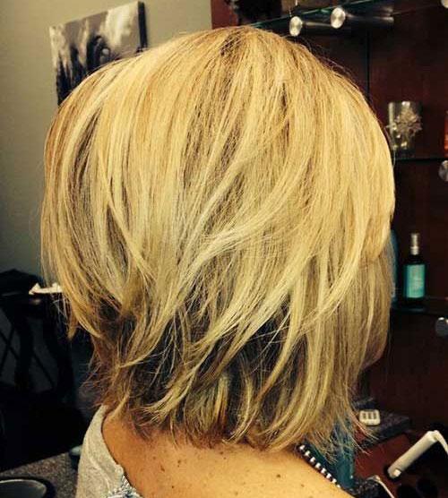 Layered-Bob-Hair Best Pics of Short Straight Blonde Hair