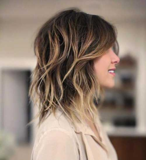Long-Bob-with-Side-Bangs Short Wavy Hairstyles for Women with Style