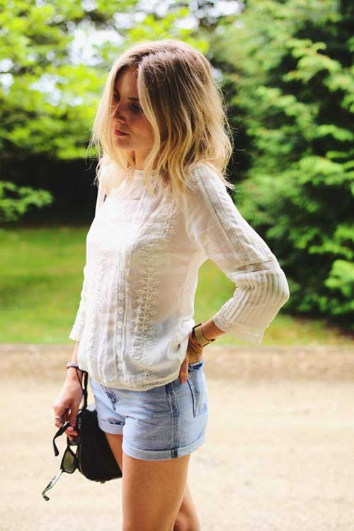 Messy-Short-Casual-Ombre-Hairstyle Casual Short Haircuts