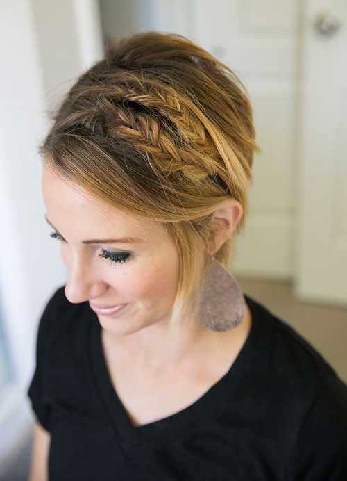 New-Short-Hair-with-Braids New Hairstyles for Short Hair