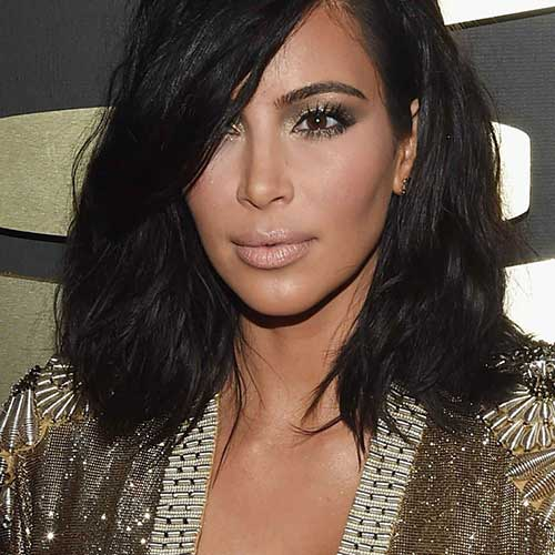 New-Short-to-Mid-Length-Dark-Hair-Cut New Hairstyles for Short Hair