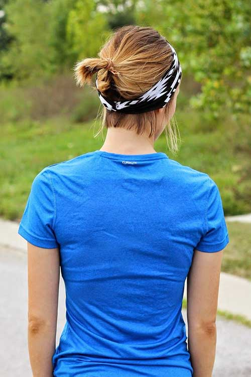 New-Simple-Short-Hair-Ponytail-with-Headband New Hairstyles for Short Hair