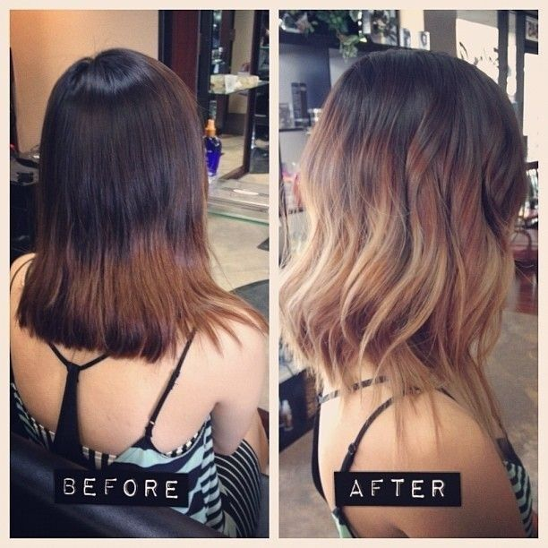 Ombre-Wavy-Hairstyle Wonderful Medium Hairstyles for 2019